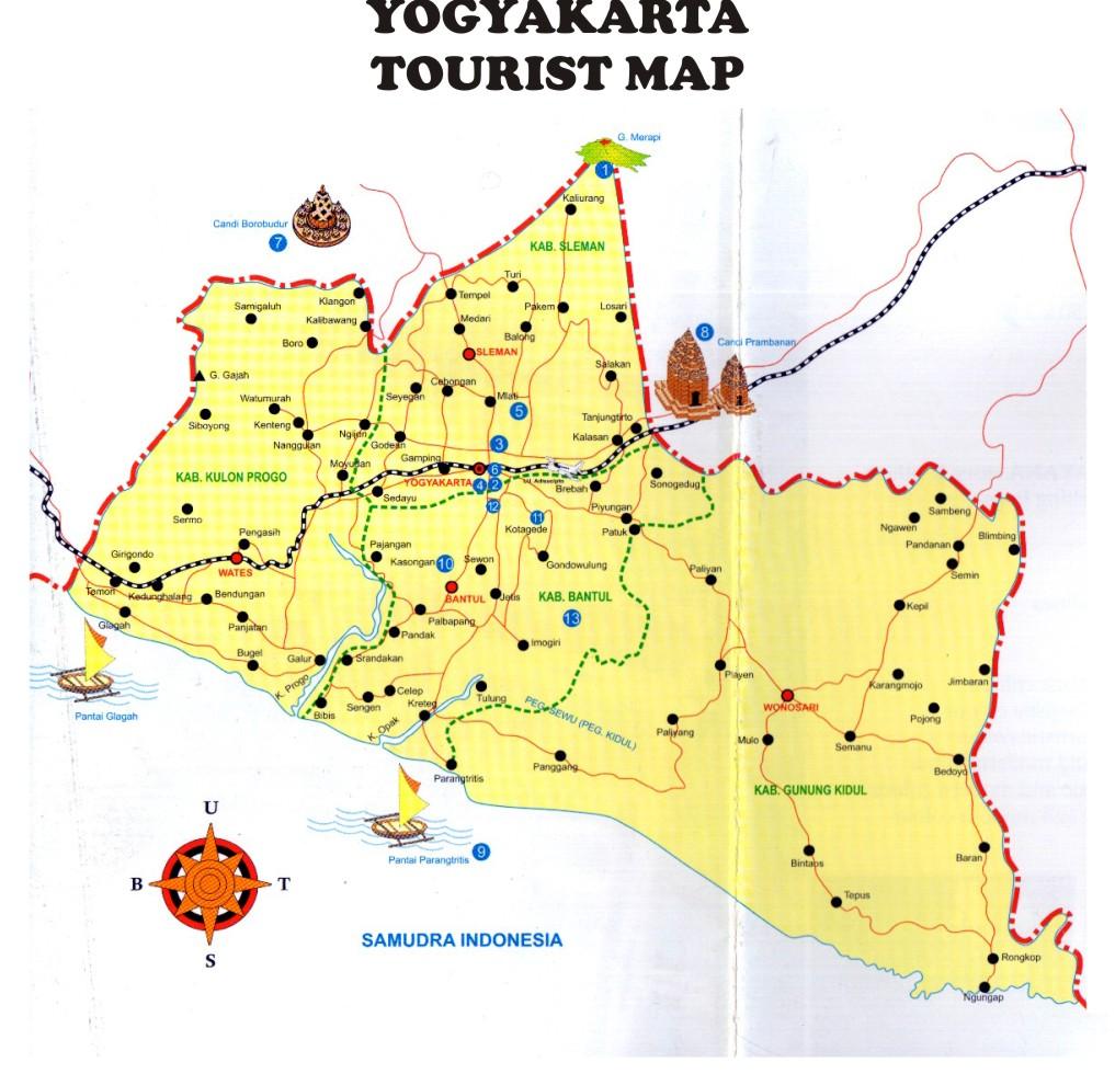 Mencari Destinasi Liburan Lewat Peta Wisata Jogja